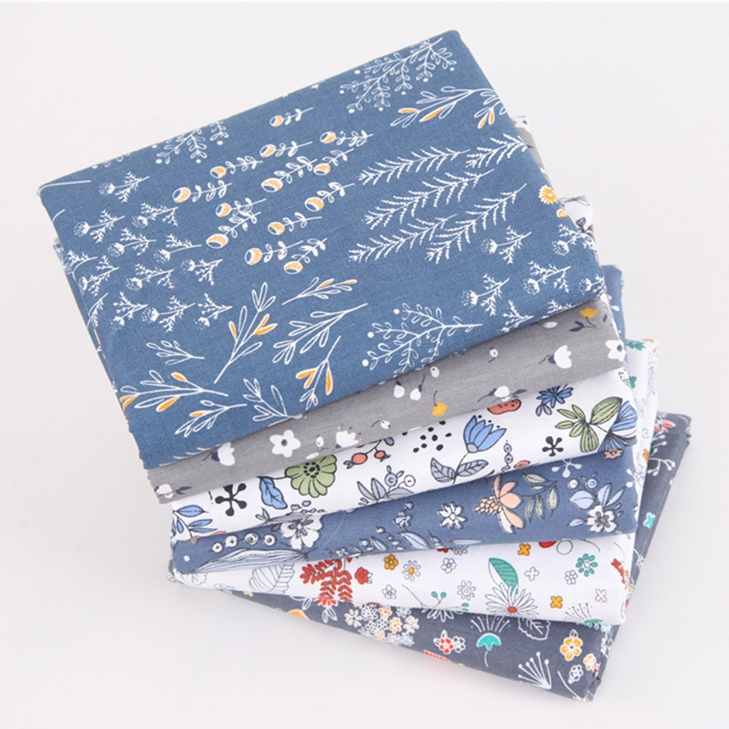 6pcs Handicraft Patchwork Fabrics Sewing Quilting Cotton Cloths DIY Floral Square Fabrics Hand Sewing Supplies-2