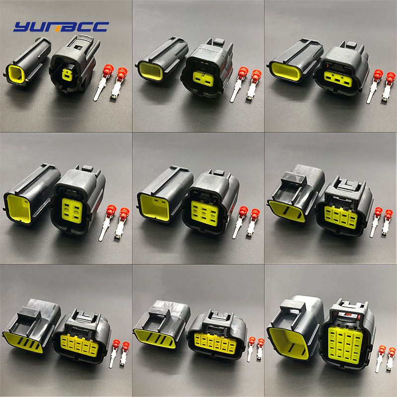 1//5//10 Kit Set Car Waterproof Electrical Wire Connector Plug 1 2 3 4 5 6 Way Pin