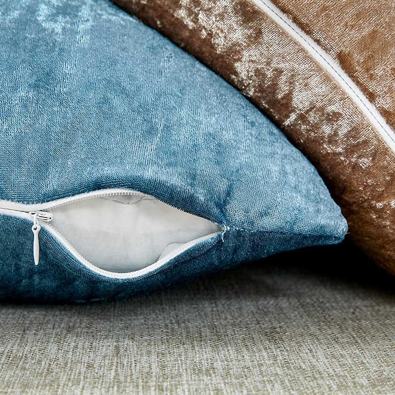 Чехол для подушки для Гостиная блестящая Наволочка Диван Декоративные подушки бархатная Наволочка на подушку размером 45*45 см Nordic украшения дома