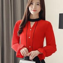 Korean Fashion Chiffon Women Blouses Flare Sleeve White Women Shirts Plus Size XXL Blusas Femininas Elegante Ladies Tops цена