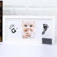 Ornament Memory Book Baby Square Ink Pad Gift Photo Frame Footprint Safe DIY Standing Handprint