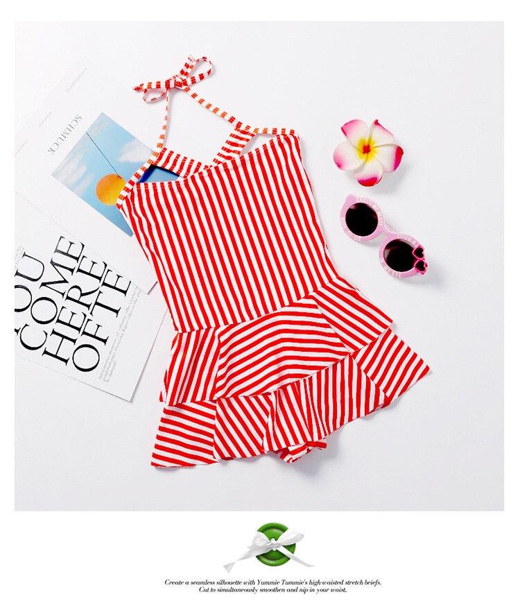 KID'S Swimwear GIRL'S Swimsuit Cute Large Children South Korea Students Dress-Bathing Suit