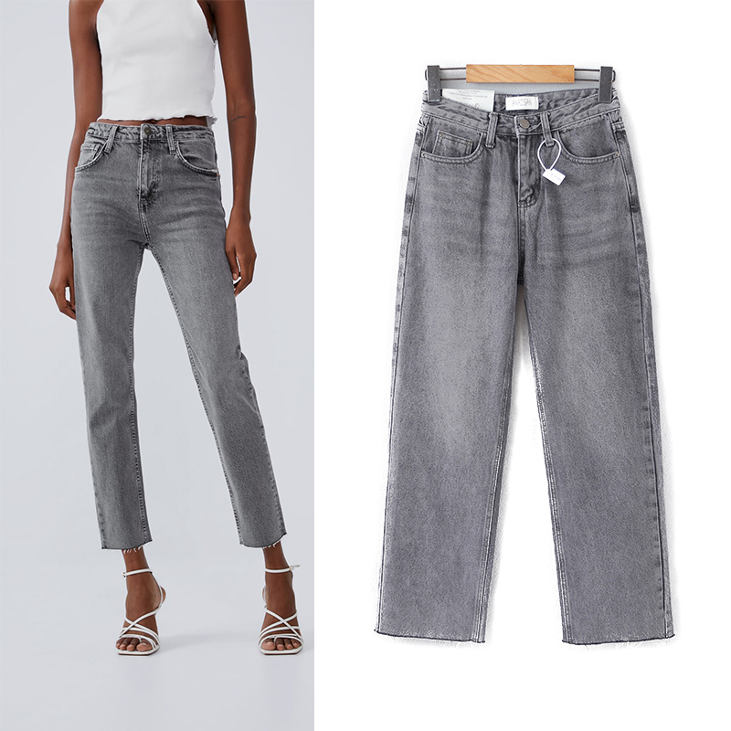 Jeans Mujer 2019 New Fashion High Waist Jeans Pocket High Elastic Pencil Plus Size Denim Long Pants Casual Basic Grey Jeans