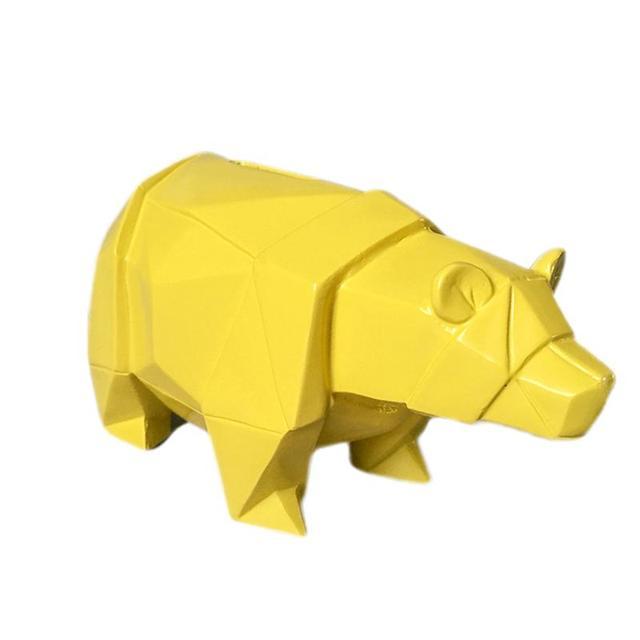 Hucha Oso Polar de Resina Amarillo