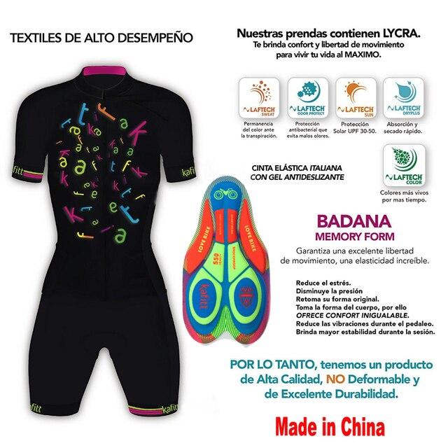 Kafitt triathlon manga curta camisa de ciclismo terno ciclismo wear shorts terno completo ropa ciclismo secagem rápida jérsei maillot 6