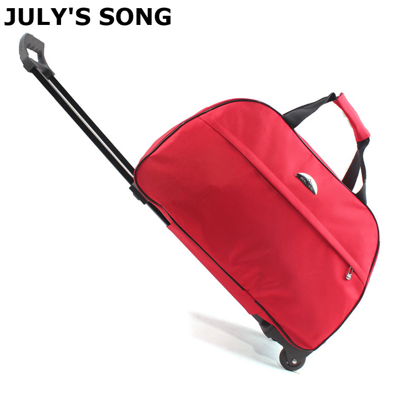 JULY'S SONG Oxford Rolling Luggage Bag Travel Suitcase With Wheels Trolley Luggage For Men/Women Carry On Travel Bags