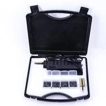 Kit de reparación de parachoques de coche, soplete de soldadura de plástico, 210V 240V, herramienta de carrocería de carenado con enchufe europeo, grapadora en caliente