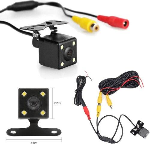 170 ° samochodowy o szerokim kącie kamera cofania HD widok z tyłu wideo kamera samochodowa dodatkowa kamera cofania 4 widzenie nocne LED kamera parkowania|Kamery pojazdowe|   -