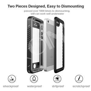 Image 5 - אמיתי עמיד למים מקרה עבור iPhone 11 פרו X XS מקס 5S 6 6S 7 8 בתוספת SE 2020 עמיד הלם חיצוני צלילה מגן מים הוכחת כיסוי