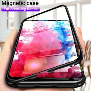 Magnetic Metal Case For Samsung Galaxy Note 9 8 10 Pro S20 Ultra S10 Lite S9 S8 Plus A30 A50 A70 A51 A31 A71 Glass Magnet Cover