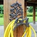 Vintage Sechs Vögel Auf Zweig Gusseisen Wand Wasser Rohr Halter Europäischen Home Garten Wand Dekor Eisen Lagerung Haken-in Halter & Gestelle aus Heim und Garten bei