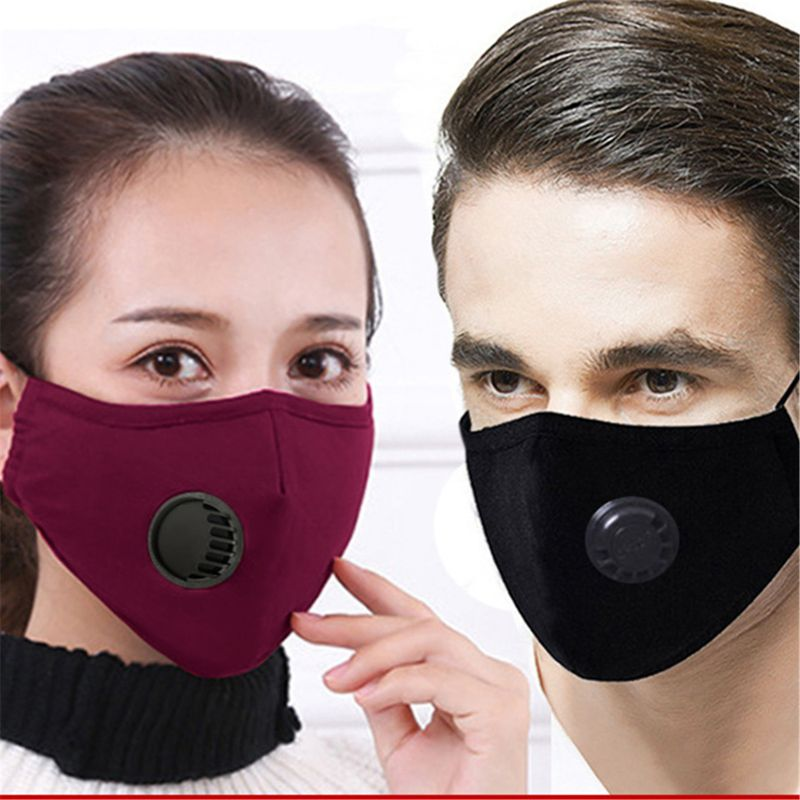 1Set Unisex Reusable Anti-Dust Masks Pm 2.5 Dustproof Pollution Half Face Mouth Mask Washable Anti-Haze Face Mask  Respirator