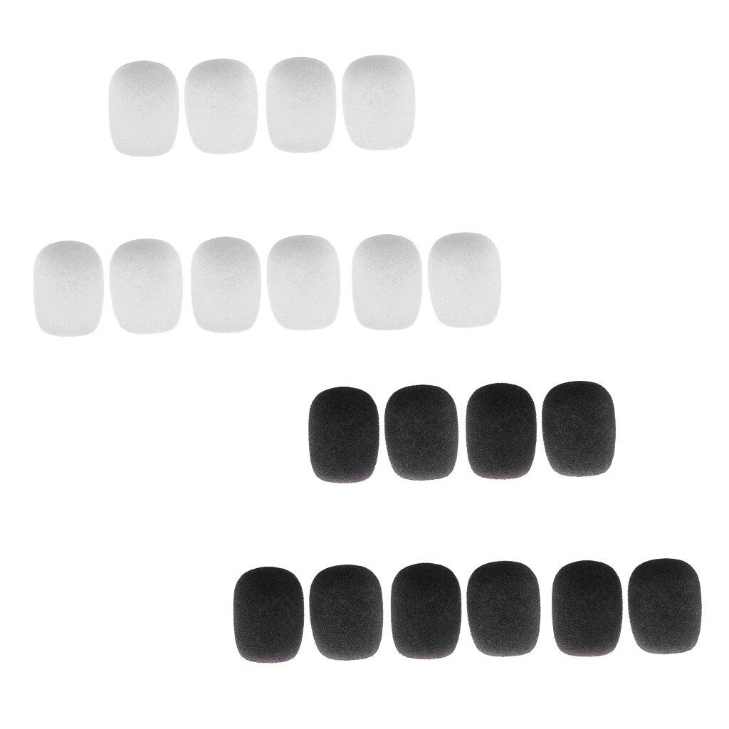 20Pcs/Pack Microphone Windshields Wind Muffs Mic Foam Cover, Black & White