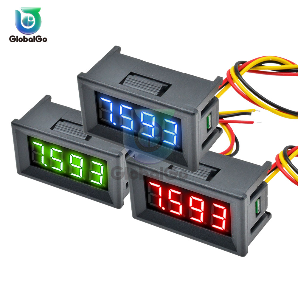 BATTERY Level Meter Solar Panel LED Digital VOLTMETER Volt Meter US ship