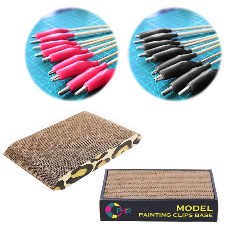 Model Painting Alligator Clip Sticks For Airbrush & Spray Hobby Model Building Drawing Tool Parts