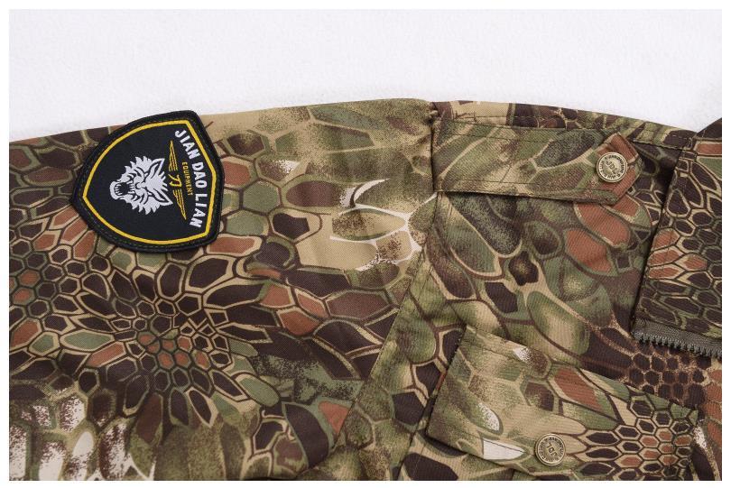 ternos camuflagem tático camisa + calças de