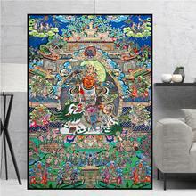 Avalokitesvara bodhisattva thangka original budismo tradicional realista hd quadros em tela pintura da arte da parede decoração de casa