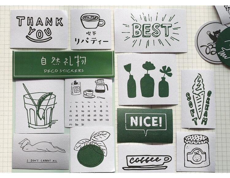 ilha jardim diário decorativo móvel adesivos scrapbooking diy artesanato adesivos