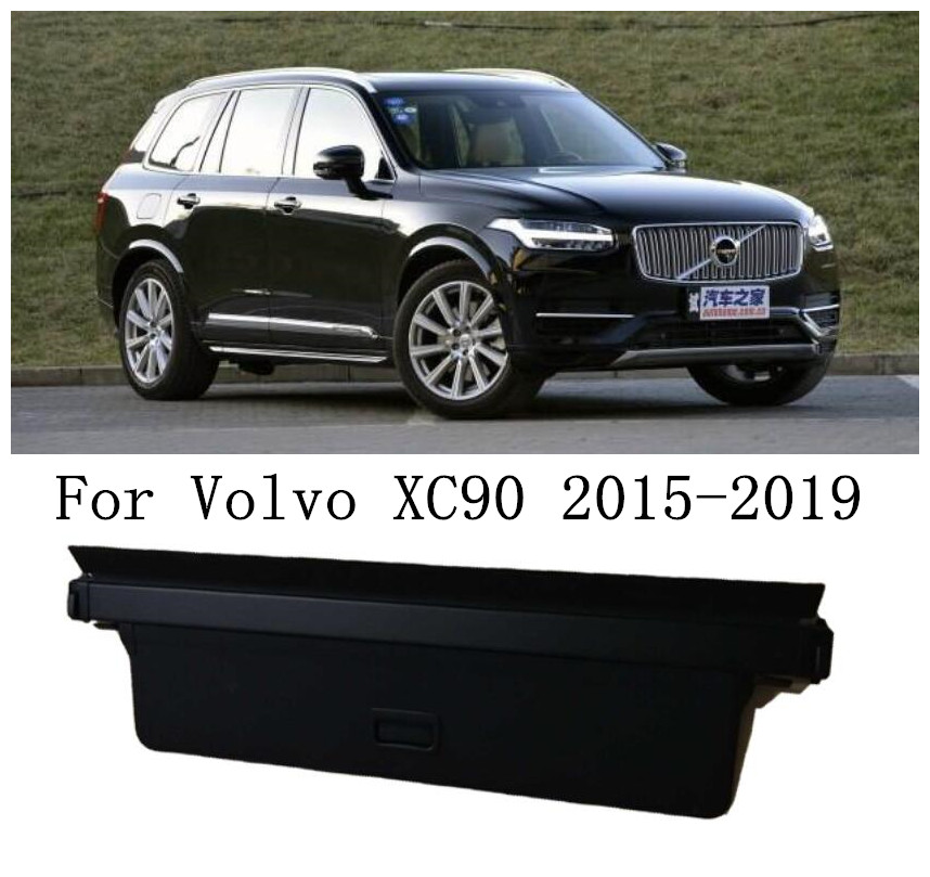JINGHANG Car Rear Trunk Cargo Cover Security Shield Screen shade Fits For <font><b>Volvo</b></font> <font><b>XC90</b></font> 2015 <font><b>2016</b></font> 2017 2018 2019 image