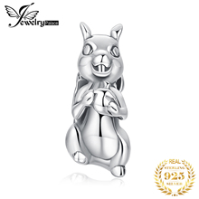 JewelryPalace Squirrel 925 Sterling Silver Beads Charms Original For Bracelet original Bead Jewelry Making