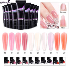 Monja 10 Colors 15ml Nail Art UV Gel Nail Extension Quick Building Acrylic Nail Polish Gel DIY Coating Painting Manicure Tool