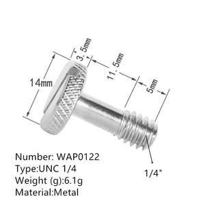 "Image 3 - Jadkinsta 10pcs 1/4"" flat head Convert Slotted Screw Adapter Thread Camera Screw Mount Adapter for DSLR Camera Tripod Stand"