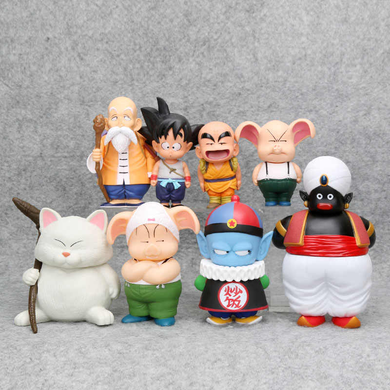 Anime Dragon Ball Z Son Goku Gokou mistrz Roshi Kuririn pilaw Oolong Chiaotzu buu pan Popo pcv Action Figures zabawki Model Doll