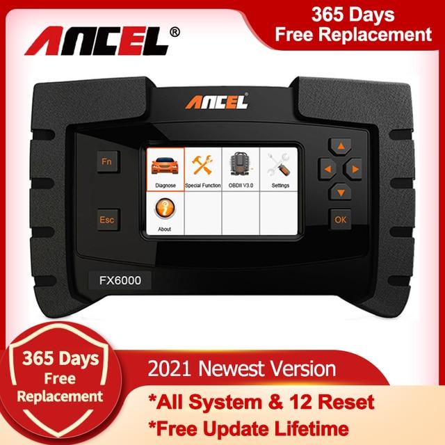 Ancel FX6000 OBD2 Scanner Professional Full System Code Reader Auto Auto Diagnose Werkzeuge ABS Öl Reset OBD 2 Automotive Scanner