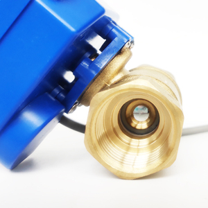 "Image 4 - 3/4 ""真鍮電気作動弁、 DC12V morotized バルブ 5 ワイヤー (CR05) 制御、 DN20 電気バルブ位置フィードバック"