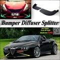 Автомобильный сплиттер диффузор бампер Canard губ для Alfa Romeo GTV/Spider AR тюнинг тела комплект/передний дефлектор Fin подбородок снижение тела