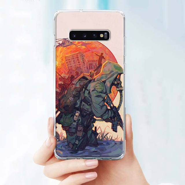 Soft Case for Samsung Galaxy S10 S10e S20 Ultra S7 S8 S9 Plus S10+ S20+ Note 8 9 10 10+ Cover stalker clear sky Game