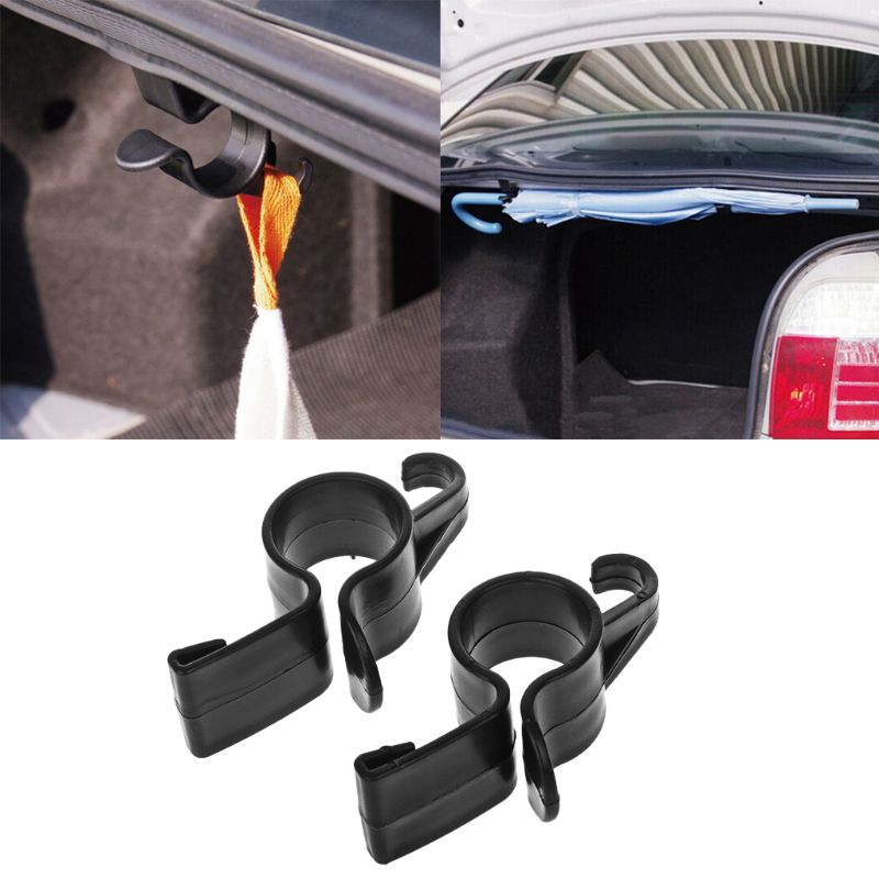2Pcs Car Rear Trunk Mounting Bracket Umbrella Holder Automobile Trunk Organizer For Umbrella Hanging Hooks For Travelling
