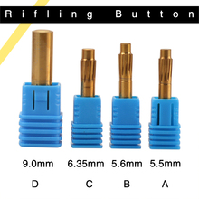 Rifling Button 5.5mm 5.6mm 6.35mm 9.0mm 12 Flutes Hard Alloy Chamber Helical Machine Reamer Break Durable Tool Accessories