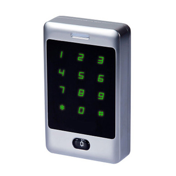 Metal waterproof access control machine with card password and key access control