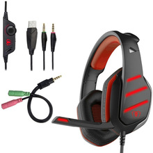 for Phones Computer PC Xbox One Gamer GM-3 PS4 Gaming Headsets Stereo Bass Game Headphones Earphone Casque with Mic LED Lights new upgrade stereo headphone headset casque computer gaming headset ps4 with mic for pc game gamer earphone two pair of earmuffs
