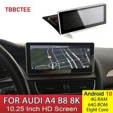 Lecteur multimédia de voiture Android 10 4 + 64G pour AUDI A4 B8 8K 2008 ~ 2016 MMI 2G 3G Android affichage Radio GPS Navigation écran tactile