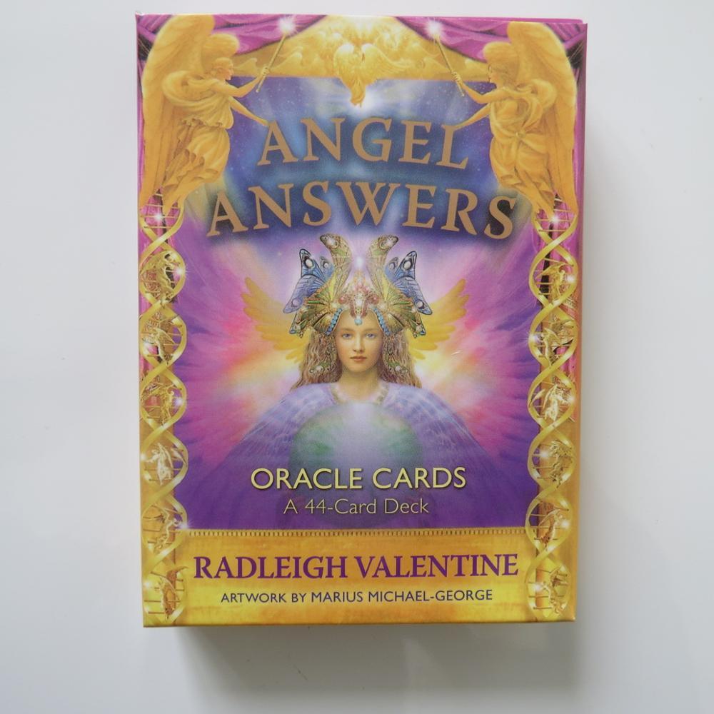 Новые карты Таро Оракл палуба таинственное гадания Ангел ответы Оракл карты для женщин девушек карты игры настольная игра