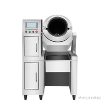Automatic Natural gas/liquefied gas cooking machine Stainless steel commercial gas intelligent uniform heating fried dishe maker