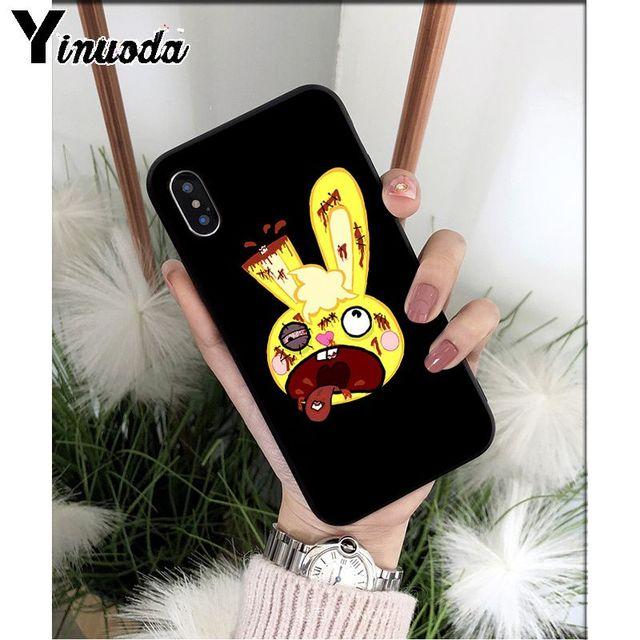Yinuoda Happy Tree Friends housse de téléphone en Silicone souple pour iPhone 6S 6plus 7 7plus 8 8plus X Xs MAX 5 5S XR 11 11pro max