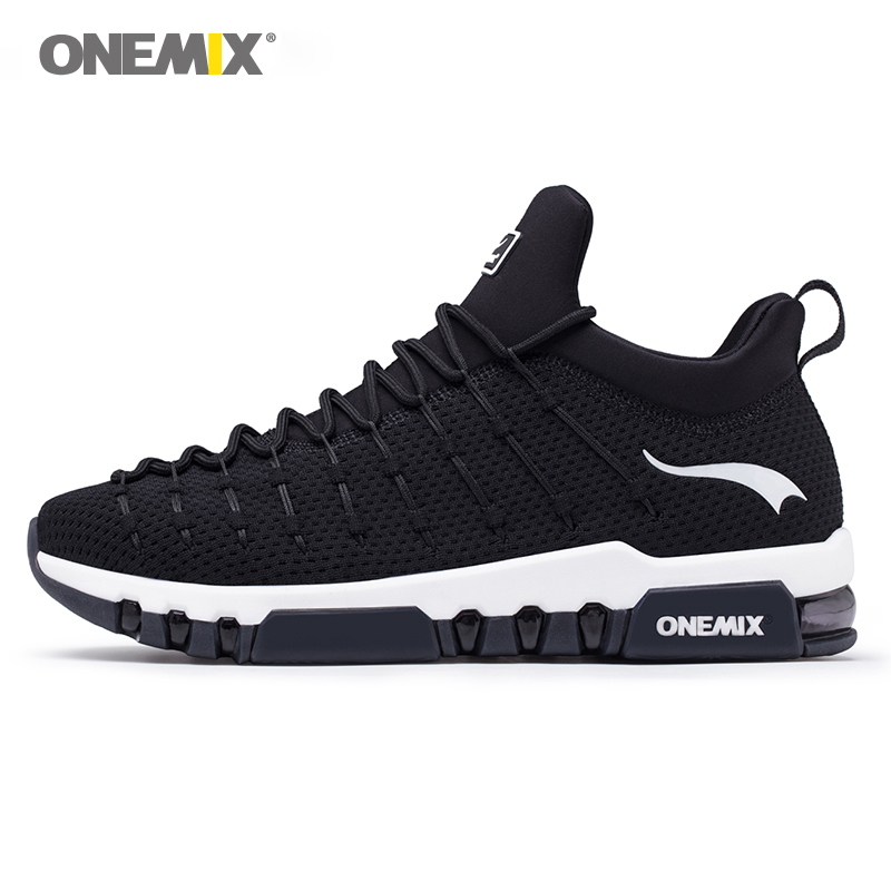 ONEMIX Men Running Shoes For Women Sneakers Black Max 12 Cushion Trail Gym Ladies Jogging Trainers Outdoor Sport Walking