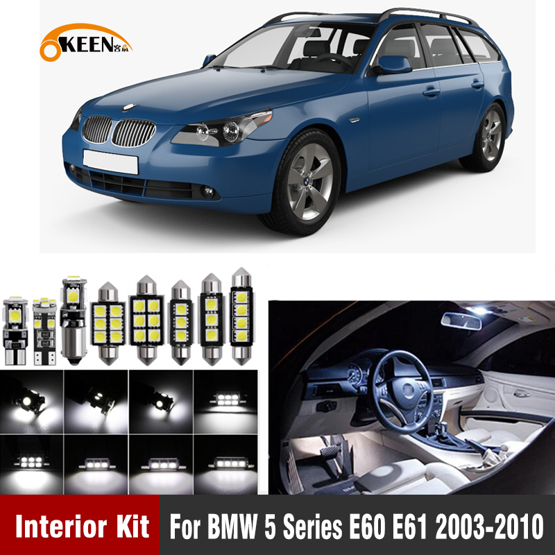 20pcs Canbus <font><b>Led</b></font> <font><b>Bulb</b></font> <font><b>Interior</b></font> Lighting Light Kit for <font><b>BMW</b></font> <font><b>E60</b></font> E61 M5 525xi 525i xDrive 530i 530xi 540i 545i 550i 2003-2010 image