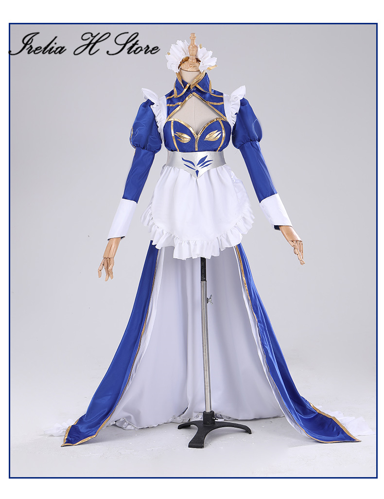 Altria Pendragon FGO Cosplay Fate/Grand Order Maid Altria Pendragon Cosplay Costume maid dress female 2