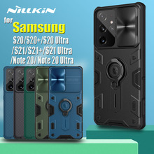 for Samsung S21 Plus Note 20 Ultra Case Nillkin Armor Impact Resistant Slide Camera Lens Protect Cover for Galaxy Note20 S20 FE