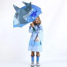 3D Cartoon Regenschirm Abdeckung Sonnenschirm Für Sonne Regen Schutz UV Ray Outdoor Wind Beständig Folding Kinder Regenschirm Regen Winddicht