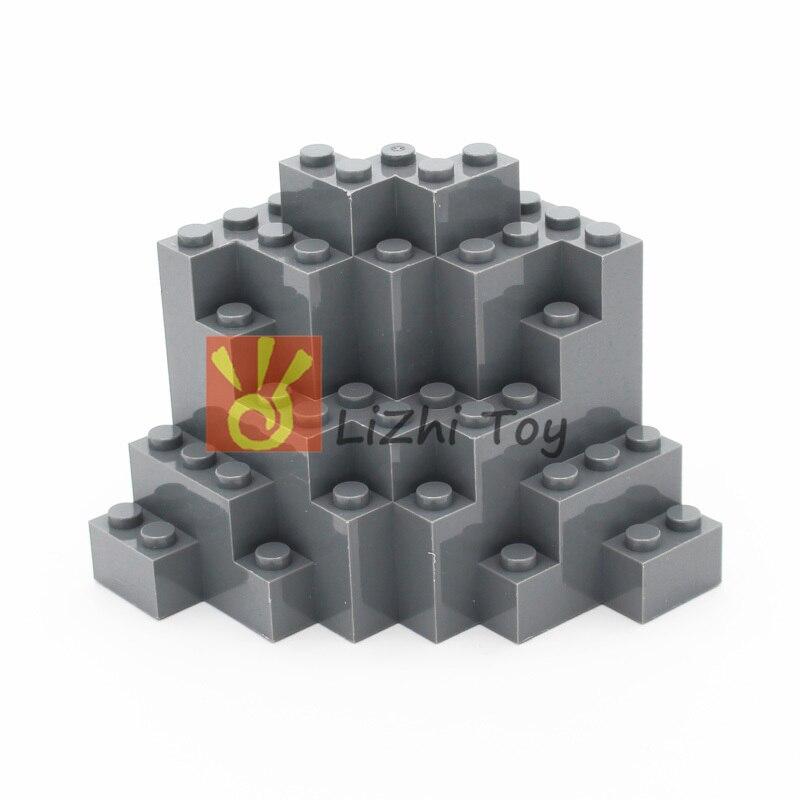 MOC Bricks 23996 Rock Panel 8x8x6 Medium Symmetric DIY Enlighten Building Block Educational Toys Compatible With All Brands