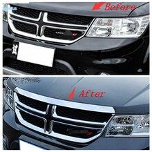 Lapetus Front Hood Bonnet Strip Front Engine Trim Decorative Strip Fit For Dodge Journey JCUV Fiat Freemont 2012 2013 2014 2015