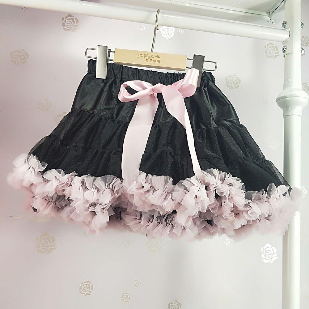 Детская юбка-пачка для девочек; пышная юбка-американка; распродажа - Цвет: Розовый