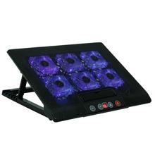 Охлаждающая подставка для ноутбука Подставка для ноутбука 6 вентиляторов двойной USB ноутбук сенсорная охлаждающая подставка радиатор основания