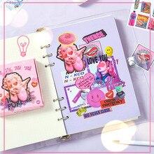 60pcs/boxed Neon Harajuku Series Beautiful Cartoon Sticker Personality Cute Stationery Scrapbook Decoration DIY Material