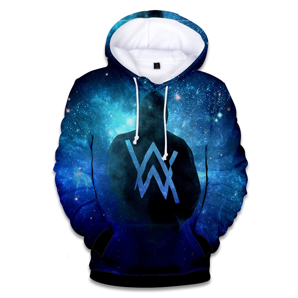 Hoodies Men Women High Quality Harajuku 3D Print Logo Alan Walker DJ Hoodies Clothes Cosplay Costume For Kids